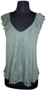 Gypsies & Moondust Lace Stretch New With Tags Boho Gypsy Top Green