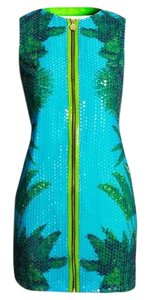 Versace for H&M Palm Tree Sequin Open Back Alligator Party Dress
