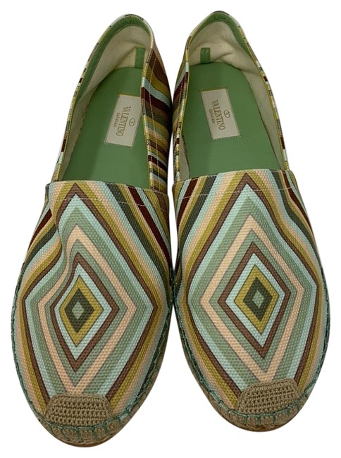 Item - Multi Blue Brown Green New Flats Size EU 41 (Approx. US 11) Regular (M, B)