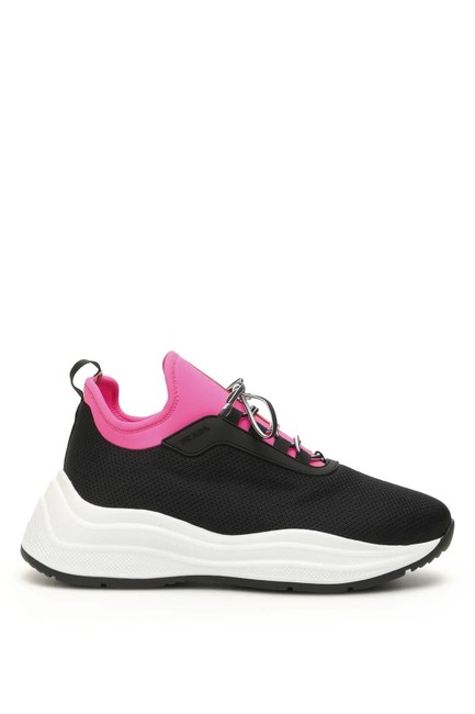 Prada Black Pink Cr New Mesh Slip On 9 Sneakers Size EU 39 (Approx. US 9) Regular (M, B) Prada Black Pink Cr New Mesh Slip On 9 Sneakers Size EU 39 (Approx. US 9) Regular (M, B) Image 1