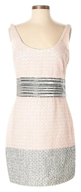 Item - Pink & Gray Sequin Short Formal Dress Size 2 (XS)