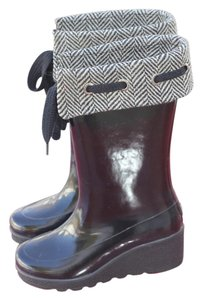 Sperry Black wtih a tweed top Boots