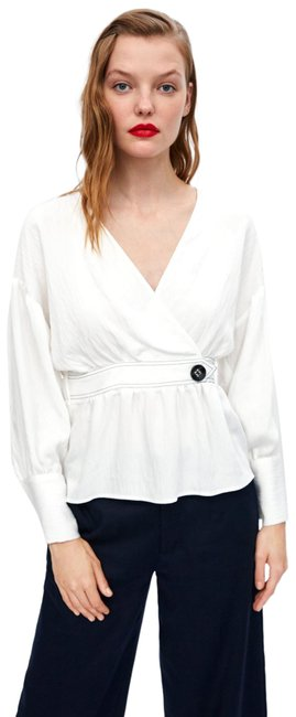 Item - White Puff Sleeve Blouse Size 4 (S)