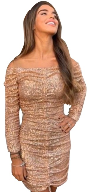 Item - Champagne Gold Short Cocktail Dress Size 2 (XS)