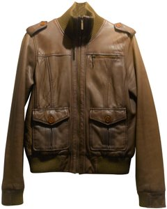 Ben Sherman Chestnut Leather Jacket