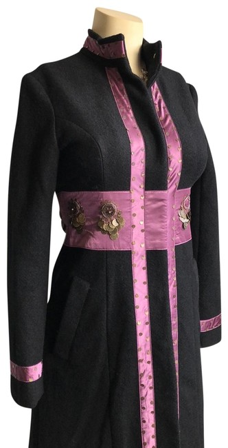 Item - Black Cashmere and Wool Coat Size 4 (S)