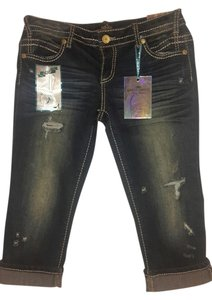 Almost Famous Capri/Cropped Denim-Distressed