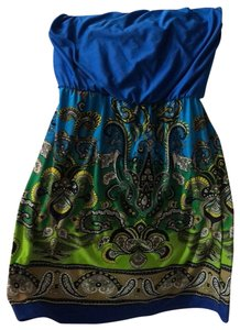 bailey blue short dress on Tradesy