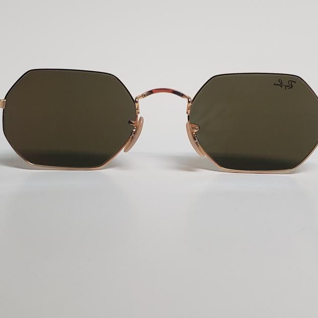Ray-Ban Gold New Rb3556n Octagonal Blue Gradient Flash Lens Sunglasses Ray-Ban Gold New Rb3556n Octagonal Blue Gradient Flash Lens Sunglasses Image 4