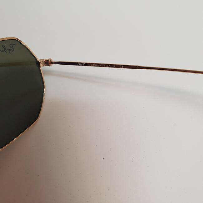 Ray-Ban Gold New Rb3556n Octagonal Blue Gradient Flash Lens Sunglasses Ray-Ban Gold New Rb3556n Octagonal Blue Gradient Flash Lens Sunglasses Image 5