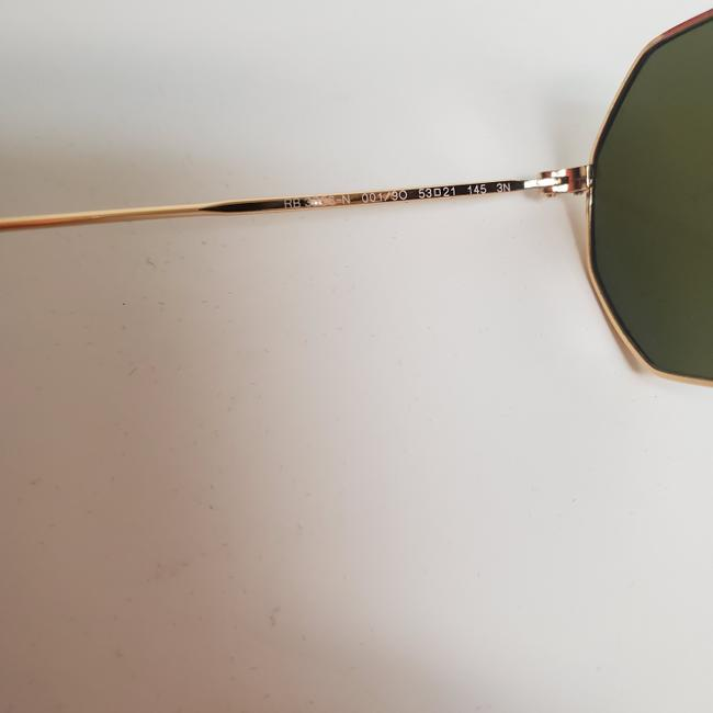 Ray-Ban Gold New Rb3556n Octagonal Blue Gradient Flash Lens Sunglasses Ray-Ban Gold New Rb3556n Octagonal Blue Gradient Flash Lens Sunglasses Image 7