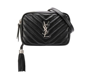 Saint Laurent Gold Hardware Quilted Belted Lou Belt Cross Body Bag