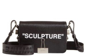 Off-White™ Off-white Flap Binder Clip Off-white Sculpture Cross Body Bag