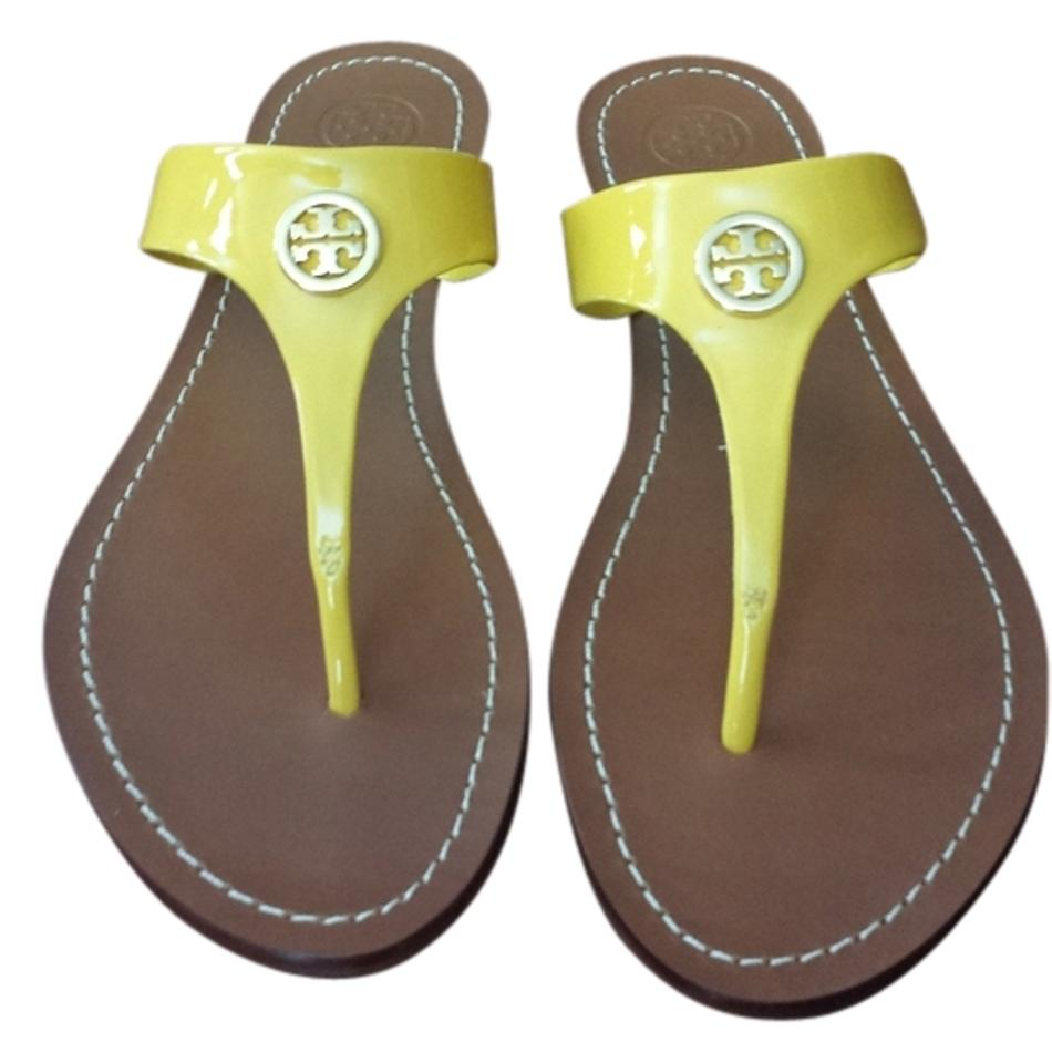 53275c9f9 Tory Burch Yellow Cameron Thong Flip Flops 12138347 Sandals. Size  US ...
