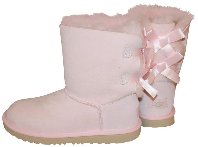 Item - Seashell Pink Bailey Bow Suede Shearling Boots/Booties Size US 6 Regular (M, B)
