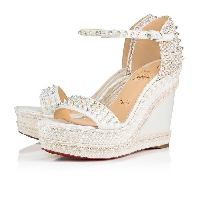Item - White Madmonica 120 Leather Spiked Studded Wedge Heel Sandals Platforms Size EU 40 (Approx. US 10) Regular (M, B)
