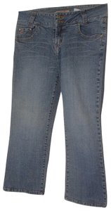 Paris Blues Medium Denim Wash Juniors Boot Cut Jeans-Light Wash