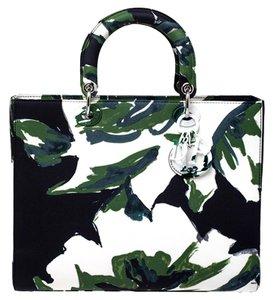 Dior Limited Edition Leather Tote in Green