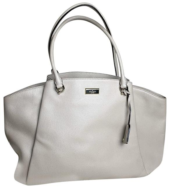 Item - Ashlee Anna Court Handbag Tan/Grey Lambskin Leather Shoulder Bag