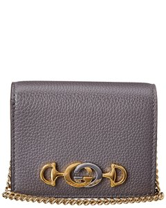 Gucci Gucci Zumi Leather Card Case On Chain