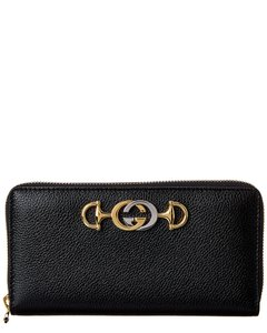Gucci Gucci Zumi Leather Zip Around Wallet