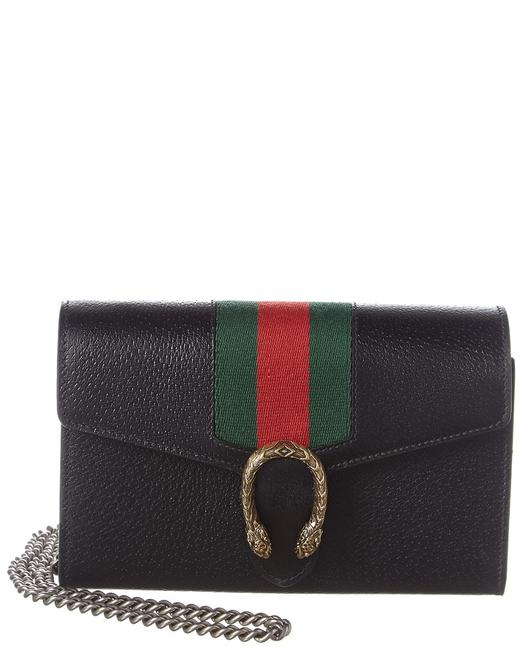 Item - Wallet on Chain Dionysus Black Leather Shoulder Bag
