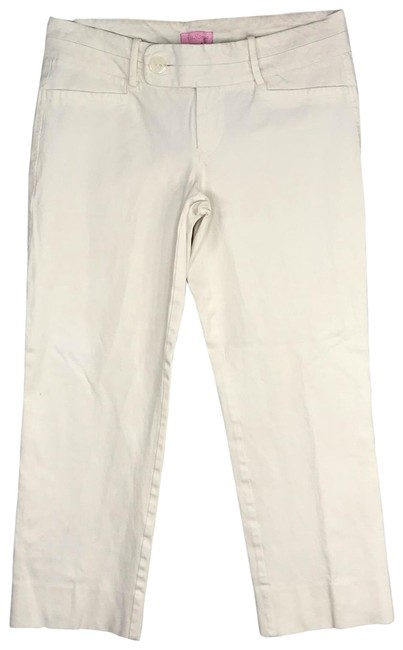 Item - White Low Rise Luxury Stretch Pants Size 10 (M, 31)