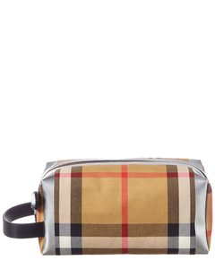 Burberry Burberry Metallic Detail Vintage Check & Leather Pouch