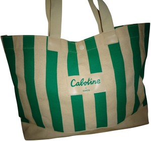 Parfums Gres Tote in Cream and Green