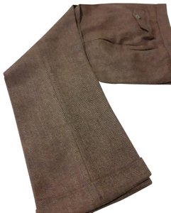 Barneys New York Cashmere Zipped 4 Packets Made In Italy Capri/Cropped Pants brown