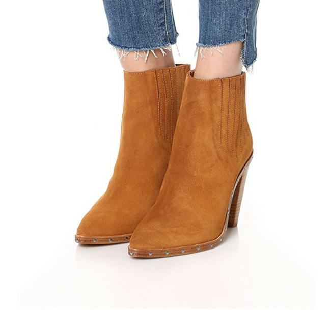 Item - Camel Noliana Suede Leather Stud - Embellished Ankle Boots/Booties Size US 11 Regular (M, B)
