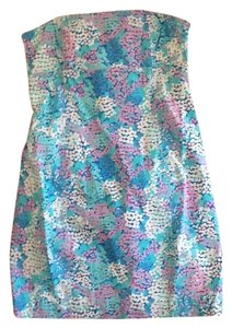 Lilly Pulitzer short dress Blue pink and white on Tradesy