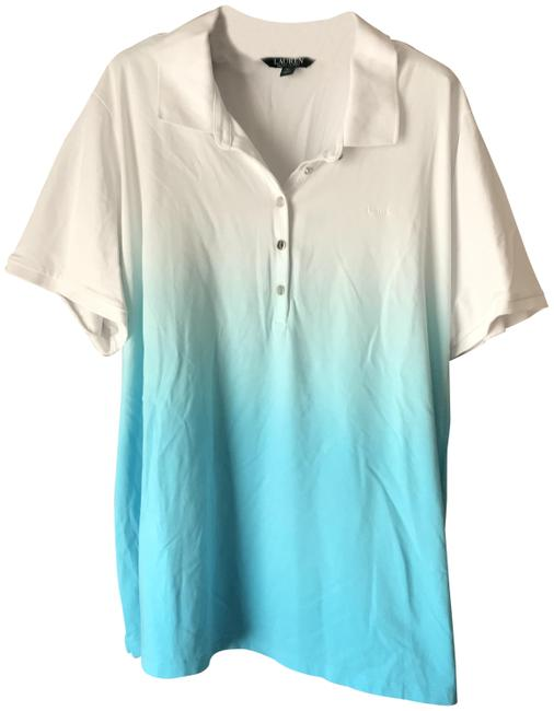 Item - White Blue Ombre Tunic Size 26 (Plus 3x)