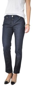 Michael Kors Made In Italy French Chic Cigarette Peg Pant Straight Leg Jeans-Dark Rinse