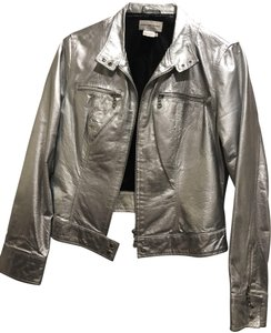 Newport News Silver Leather Jacket