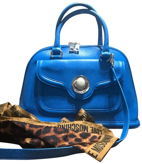 Moschino Bag Blue Saffiano Leather Tote Moschino Bag Blue Saffiano Leather Tote Image 1