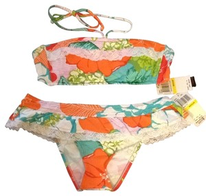 Lucky Brand Lucky Brand - Tropical Print and Lace Bikini