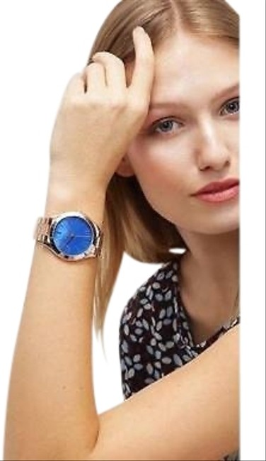 Item - Gold with A Blue Face Mk5913/ Runway Quarts Dial Women's Analog Watch