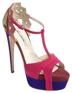 Brian Atwood multi color Platforms