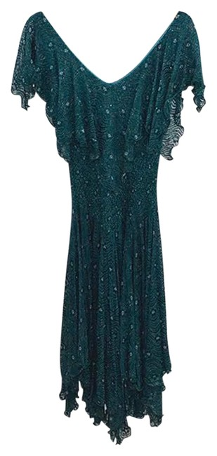 Item - Green *vintage* Evening #176-43 Mid-length Cocktail Dress Size 4 (S)