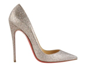 Christian Louboutin Pointed Toe silver Pumps