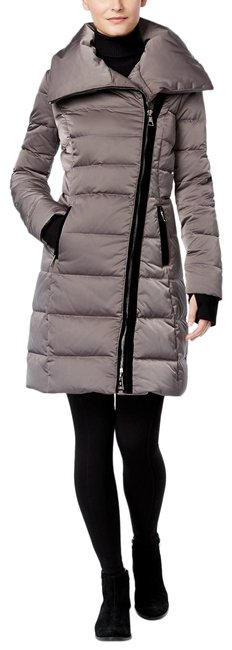 Item - Gray Asymmetrical Zip Quilted Down Puffer Mink Coat Size 4 (S)