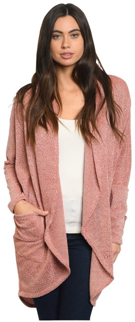 Item - Mauve Open Front with Pockets Cardigan Size 14 (L)