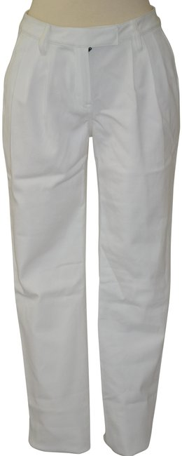 Item - White Pleated Stretch Pants Size 4 (S, 27)