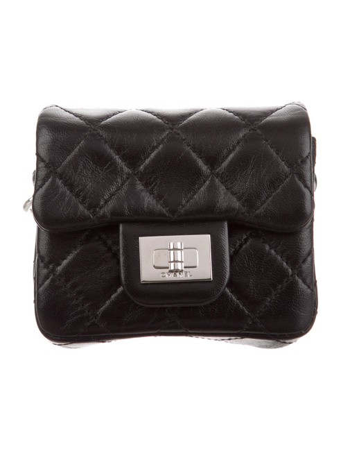 Item - 2.55 Reissue Mini Bag Quilted Ankle Wrist Black Xleather Wristlet