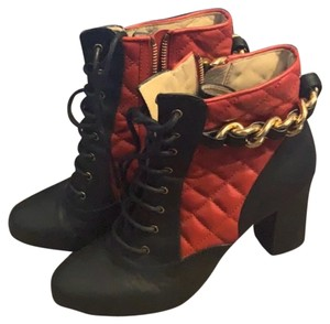 Moschino Black & Red Boots