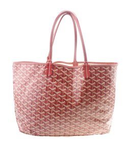 Goyard Canvas Tote in Red