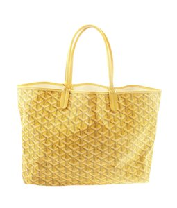 Goyard Canvas Tote in Yellow