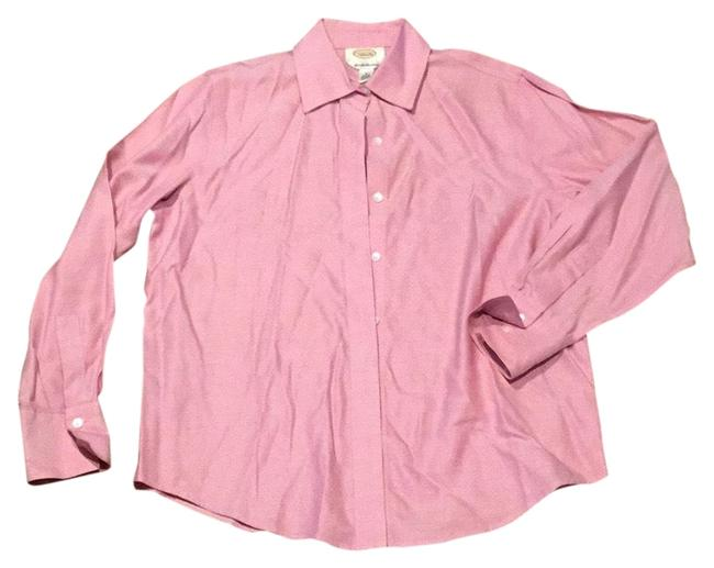 Talbots Pink and White Button-down Top Size 6 (S) Talbots Pink and White Button-down Top Size 6 (S) Image 1