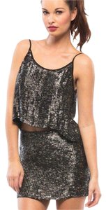 MLV Sequin Party Night Out Mini Skirt Black